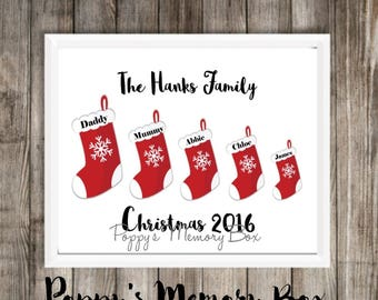 Christmas Family Tree, Christmas Poster, Christmas Print, Christmas Decor, Elf on a Shelf, Christmas Box, Personalised Christmas, Stockings