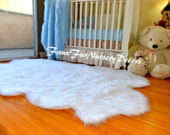 cyber monday sale original quad sheepskin four pelts nursery new design plush nursery faux fur rug