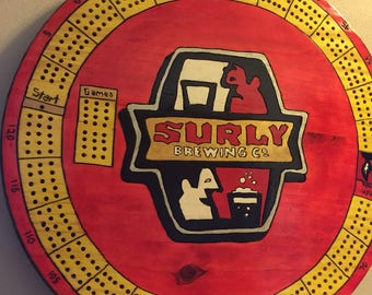 Surly #1    Handmade Cribbage Board