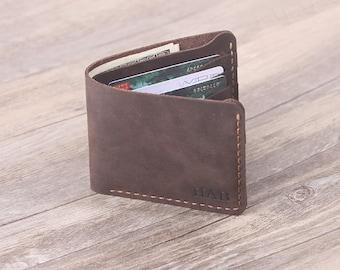 Custom  Men's Leather wallet - Handmade Leather Wallet - Bifold Men's Wallet - Groomsman Gift - Father's Day Gift