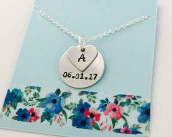 Mom Necklace, Personalized Mom Necklace, Date Necklace, Personalized Date Necklace, Custom date Necklace