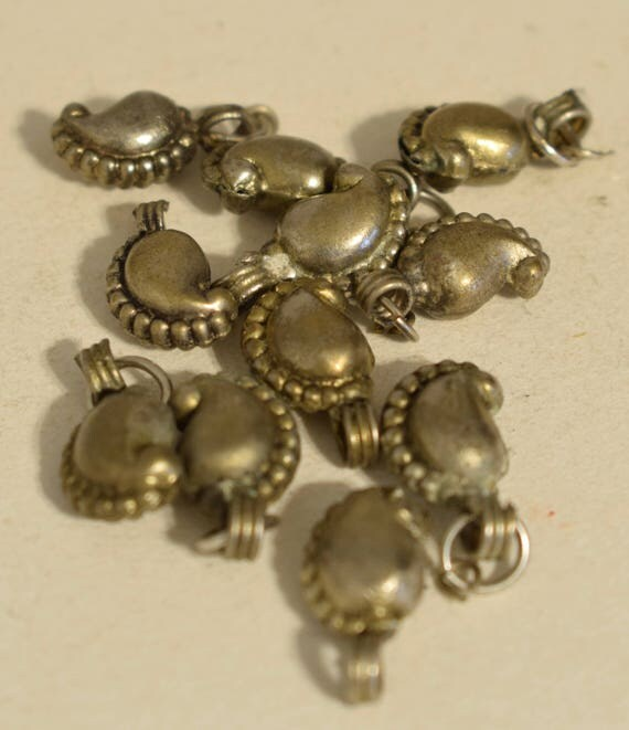 Beads Middle Eastern Coin Silver Kuchi Charms Necklaces Earrings Silver Components