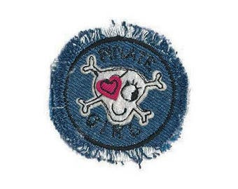 Applique badge patch Thermo skull jeans