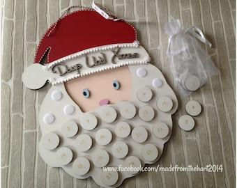 Santa Beard Father Christmas Advent Calendar Christmas Countdown