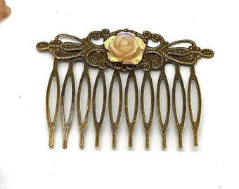 Hair accessory flower bronze beige charms and co.
