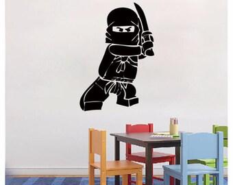 Lego Wall decal  Ninjago Lego Decal - Vinyl Wall Decal Sticker for boy room decals