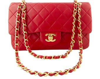Classic Chanel Red Flap Bag