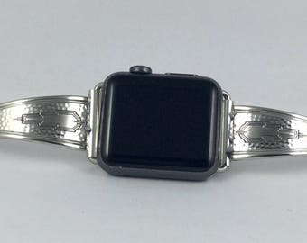 Silverplate Spoon Handle 38mm iWatch Band    Size 6 3/4 inches      # 2430