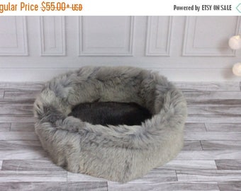 ON SALE Sheepskin Cat bed | Sheepskin Dog bed| Cat Pouf | Dog Pouf | Sheepskin Cat Mat | Dog Mat | Real Sheepskin