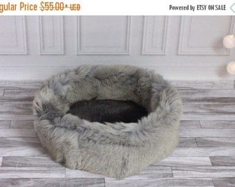 Sheepskin Cat bed | Sheepskin Dog bed| Cat Pouf | Dog Pouf | Sheepskin Cat Mat | Dog Mat | Real Sheepskin