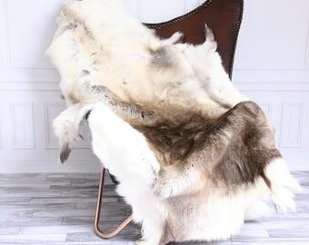 Reindeer Hide | Reindeer Rug | Reindeer Skin | Throw XXL EXTRA Large - Scandinavian Style #15RE25