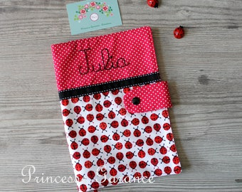 Protects health, cotton, ladybugs, customizable name, to order