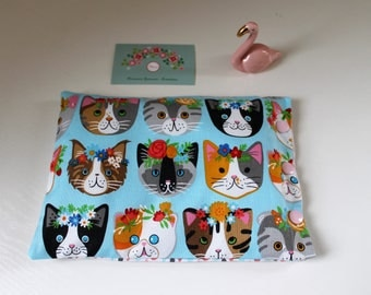 Heating pad with cotton, organic flax seeds, cats, to order portraits
