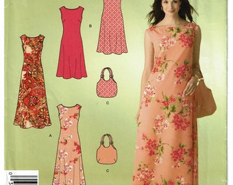 Simplicity Pattern 2952 Misses Dress and Bag Size A (10-22) UNCUT
