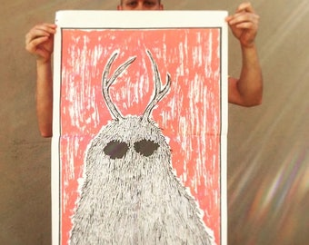 Antlered Creature Poster
