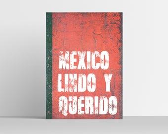 Mexico Lindo Y Querido Art Print - Wall Art  - Mexican Art