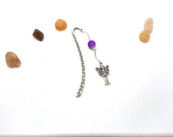 Bookmark silver pendant fairy