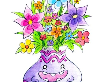Flower Vase 8x10 Print