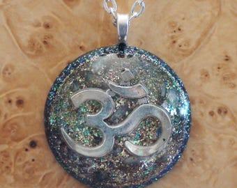 White Sahasrara Divine Alchemist Soul Antennas Chakra-Tuning Harmonized Crystal Ormus Orgone Energy 27mm Unisex Pendant Necklace Miracles