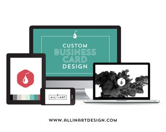 Professional Business Card Design (Printing options below)