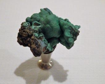Malachite and Chrysocolla Gemstone Wine Bottle Stopper (#252)--   Gemstone Wine Stopper//Geodes//Crystals//Minerals