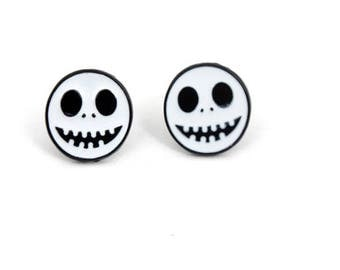 Nightmare Before Christmas Jack Skellington Halloween Stud Earrings
