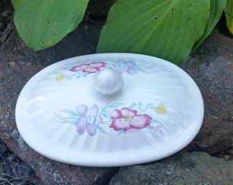 Vintage Oval Flower  Cover