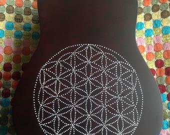 Sacred Geometry Painted Ukulele