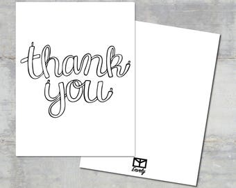 Laces  Thank You Card Set | Envely Cards