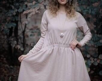 Cozy Dress | Snowflake Dress | Christmas Wear | Warmly Dress | Comfortable Dress | Winter Dress | Wide Warm Wool Dress by Sarta