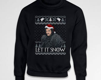 Let It Snow Ugly Christmas Sweater Xmas Sweatshirt Holiday Jumper TV Show Christmas Pullover Holiday Sweatshirt Winter Sweater TEP-646