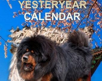 SALE last one New 2018 TIBETAN MASTIFF Dog yesteryear calendar freepost inland uk with uk show dates