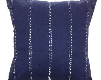 Navy Blue Pillow Covers Navy White Throw Cushions Vintage Indigo White Cotton Caldwell Couch Living Room Pillow Decorative Pillow All Sizes