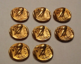 Ancient Coin Copies Goldtone 8 Total