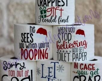 Christmas Toilet Paper | Toilet Paper Gag Gift | Christmas White Elephant Gift | Secret Santa | Office Gift | Funny Gift | Gifts for Him