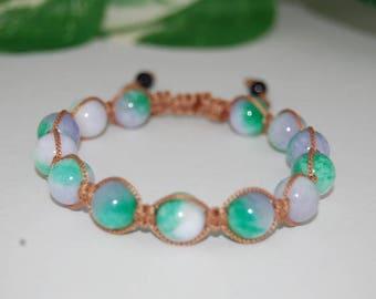Jade Bracelet,Jade Stone Shamballa Bracelet,Jade Gemstone Bracelet,Yoga,Meditation,10mm Stone Beads,Man,Women,Ethnic Bracelet