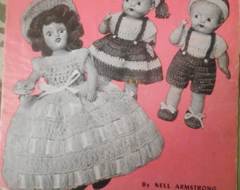 Doreen Dolls, Doreen Knitting, Pattern Leaflet #102, 1951