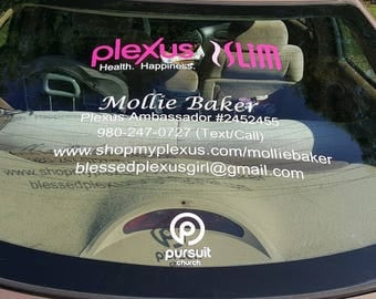 Plexus Decal Etsy - Custom car decals for business   how to personalize