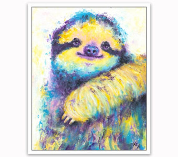 Sloth Magnet - Sloth Fridge Magnet, Sloth Magnets Gifts, Sloth Refrigerator Magnet, Sloth Gifts for Women, Car Magnet, Weatherproof Magnet.