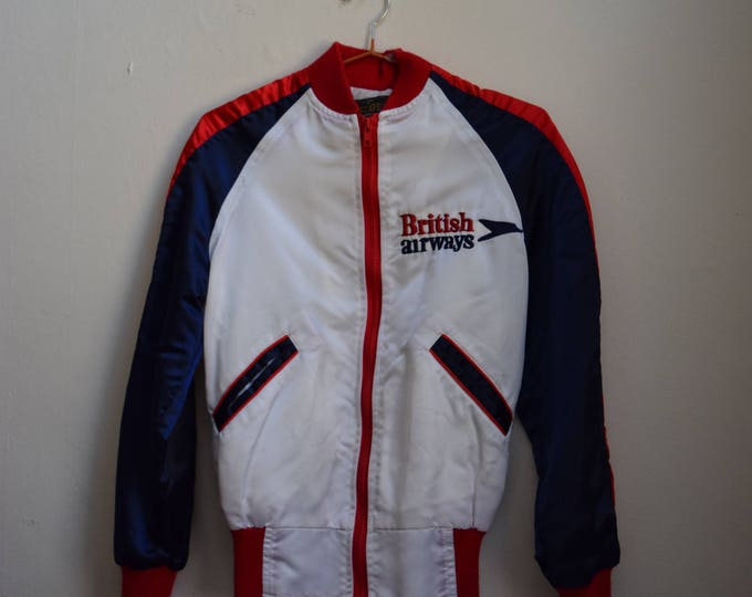 Vintage British Airways Nylon Track Jacket.