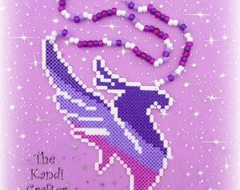 Illenium Kandi Perler Art Beaded Necklace Rave EDM