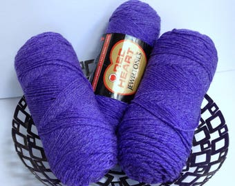 Amethyst Red Heart Yarn Jeweltones Purple Worsted Ice Yarn Thick Sparkling Yarn for Knitting Handmade Scarf or Handmade Gift Frosted Yarn