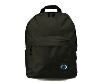 Black backpack with Eye patch 33x41x19cm
