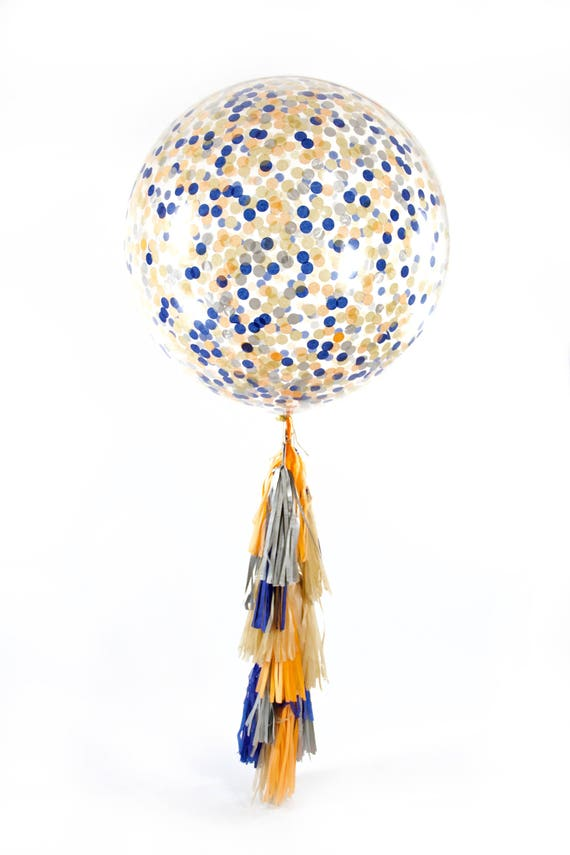 """36"""" Wild One Balloon, Giant Clear Balloon, Confetti Balloon, Tassel Balloon, First Birthday Wild One Boy Baby Shower Boy Decor Wild and Free"""