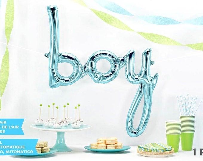 Giant Boy Balloon, Script Balloon, Blue Baby Shower Balloon, Blue Balloon, Baby shower Decor, Baby Photo Prop, Baby Announcement