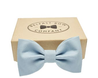 Handmade Bow Tie in Pale Blue - Adult & Junior sizes available