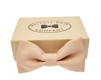 Handmade Bow Tie in Nude Blush - Adult & Junior sizes available