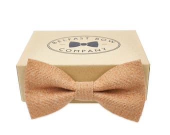 Handmade Bow Tie in Copper Rose Gold - Adult & Junior sizes available