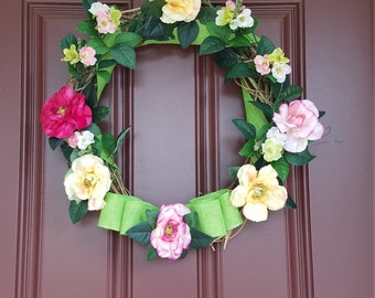 Summer Roses Wreath