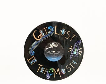 Hand Painted Vinyl Record